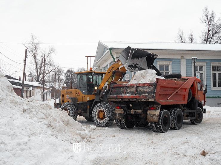 Уборка снега придомовой территории тсж